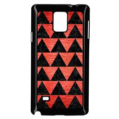 Triangle2 Black Marble & Red Brushed Metal Samsung Galaxy Note 4 Case (black) by trendistuff