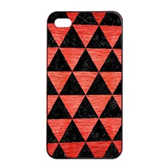 Triangle3 Black Marble & Red Brushed Metal Apple Iphone 4/4s Seamless Case (black) by trendistuff