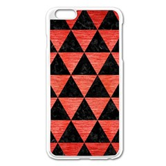 Triangle3 Black Marble & Red Brushed Metal Apple Iphone 6 Plus/6s Plus Enamel White Case by trendistuff