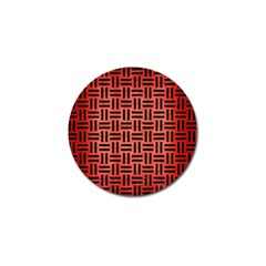 Woven1 Black Marble & Red Brushed Metal Golf Ball Marker (4 Pack) by trendistuff
