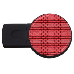 Brick1 Black Marble & Red Colored Pencil Usb Flash Drive Round (4 Gb) by trendistuff
