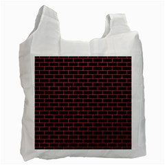 Brick1 Black Marble & Red Colored Pencil (r) Recycle Bag (one Side) by trendistuff