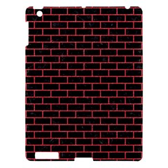 Brick1 Black Marble & Red Colored Pencil (r) Apple Ipad 3/4 Hardshell Case by trendistuff
