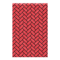 Brick2 Black Marble & Red Colored Pencil Shower Curtain 48  X 72  (small)  by trendistuff