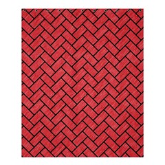 Brick2 Black Marble & Red Colored Pencil Shower Curtain 60  X 72  (medium)  by trendistuff