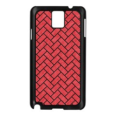 Brick2 Black Marble & Red Colored Pencil Samsung Galaxy Note 3 N9005 Case (black) by trendistuff