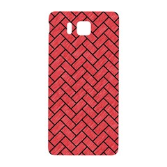 Brick2 Black Marble & Red Colored Pencil Samsung Galaxy Alpha Hardshell Back Case by trendistuff