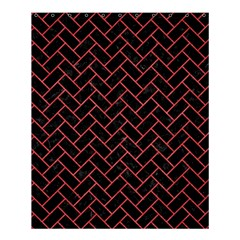 Brick2 Black Marble & Red Colored Pencil (r) Shower Curtain 60  X 72  (medium)  by trendistuff