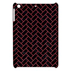 Brick2 Black Marble & Red Colored Pencil (r) Apple Ipad Mini Hardshell Case by trendistuff