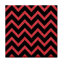 Chevron9 Black Marble & Red Colored Pencil (r) Face Towel by trendistuff