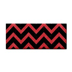 Chevron9 Black Marble & Red Colored Pencil (r) Cosmetic Storage Cases by trendistuff