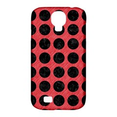 Circles1 Black Marble & Red Colored Pencil Samsung Galaxy S4 Classic Hardshell Case (pc+silicone) by trendistuff