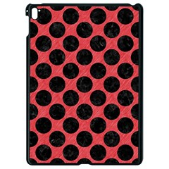 Circles2 Black Marble & Red Colored Pencil Apple Ipad Pro 9 7   Black Seamless Case by trendistuff