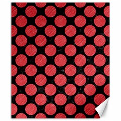 Circles2 Black Marble & Red Colored Pencil (r) Canvas 20  X 24   by trendistuff