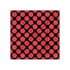 Circles2 Black Marble & Red Colored Pencil (r) Acrylic Tangram Puzzle (4  X 4 ) by trendistuff