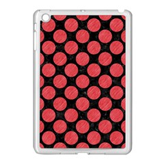 Circles2 Black Marble & Red Colored Pencil (r) Apple Ipad Mini Case (white) by trendistuff