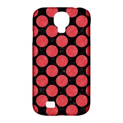 Circles2 Black Marble & Red Colored Pencil (r) Samsung Galaxy S4 Classic Hardshell Case (pc+silicone) by trendistuff
