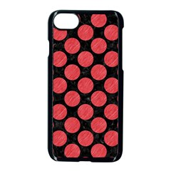 Circles2 Black Marble & Red Colored Pencil (r) Apple Iphone 7 Seamless Case (black) by trendistuff