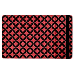 Circles3 Black Marble & Red Colored Pencil Apple Ipad 2 Flip Case by trendistuff
