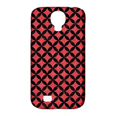 Circles3 Black Marble & Red Colored Pencil Samsung Galaxy S4 Classic Hardshell Case (pc+silicone) by trendistuff