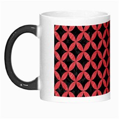 Circles3 Black Marble & Red Colored Pencil (r) Morph Mugs by trendistuff