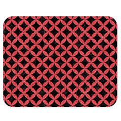 Circles3 Black Marble & Red Colored Pencil (r) Double Sided Flano Blanket (medium)  by trendistuff