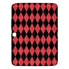 Diamond1 Black Marble & Red Colored Pencil Samsung Galaxy Tab 3 (10 1 ) P5200 Hardshell Case  by trendistuff