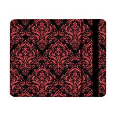 Damask1 Black Marble & Red Colored Pencil (r) Samsung Galaxy Tab Pro 8 4  Flip Case by trendistuff