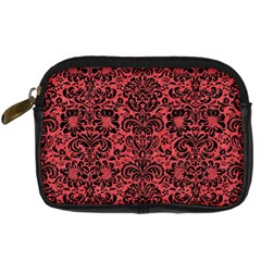 Damask2 Black Marble & Red Colored Pencil Digital Camera Cases by trendistuff