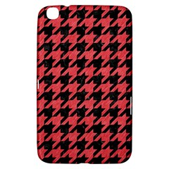 Houndstooth1 Black Marble & Red Colored Pencil Samsung Galaxy Tab 3 (8 ) T3100 Hardshell Case  by trendistuff