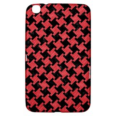 Houndstooth2 Black Marble & Red Colored Pencil Samsung Galaxy Tab 3 (8 ) T3100 Hardshell Case  by trendistuff