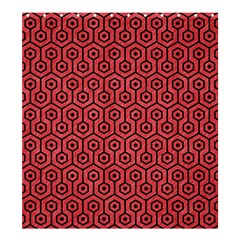 Hexagon1 Black Marble & Red Colored Pencil Shower Curtain 66  X 72  (large)  by trendistuff