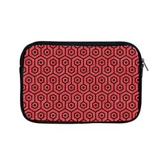 Hexagon1 Black Marble & Red Colored Pencil Apple Ipad Mini Zipper Cases by trendistuff