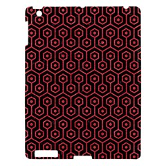 Hexagon1 Black Marble & Red Colored Pencil (r) Apple Ipad 3/4 Hardshell Case by trendistuff
