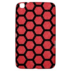 Hexagon2 Black Marble & Red Colored Pencil Samsung Galaxy Tab 3 (8 ) T3100 Hardshell Case  by trendistuff
