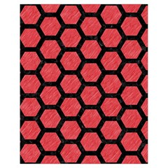Hexagon2 Black Marble & Red Colored Pencil Drawstring Bag (small) by trendistuff