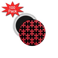 Puzzle1 Black Marble & Red Colored Pencil 1 75  Magnets (100 Pack)  by trendistuff