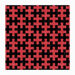 Puzzle1 Black Marble & Red Colored Pencil Medium Glasses Cloth by trendistuff