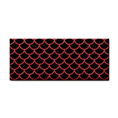 Scales1 Black Marble & Red Colored Pencil (r) Cosmetic Storage Cases by trendistuff