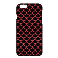 Scales1 Black Marble & Red Colored Pencil (r) Apple Iphone 6 Plus/6s Plus Hardshell Case by trendistuff