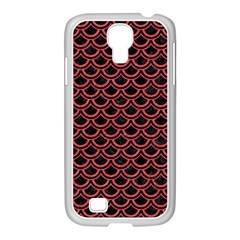 Scales2 Black Marble & Red Colored Pencil (r) Samsung Galaxy S4 I9500/ I9505 Case (white) by trendistuff
