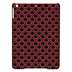 Scales2 Black Marble & Red Colored Pencil (r) Ipad Air Hardshell Cases by trendistuff