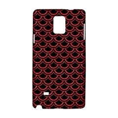 Scales2 Black Marble & Red Colored Pencil (r) Samsung Galaxy Note 4 Hardshell Case by trendistuff