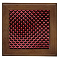 Scales3 Black Marble & Red Colored Pencil (r) Framed Tiles by trendistuff