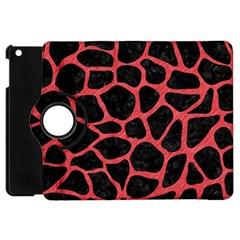 Skin1 Black Marble & Red Colored Pencil Apple Ipad Mini Flip 360 Case by trendistuff