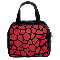 Skin1 Black Marble & Red Colored Pencil (r) Classic Handbags (2 Sides) by trendistuff
