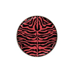 Skin2 Black Marble & Red Colored Pencil (r) Hat Clip Ball Marker by trendistuff