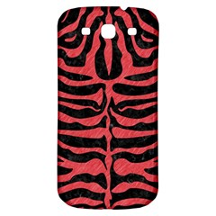 Skin2 Black Marble & Red Colored Pencil (r) Samsung Galaxy S3 S Iii Classic Hardshell Back Case by trendistuff