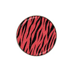 Skin3 Black Marble & Red Colored Pencil Hat Clip Ball Marker by trendistuff