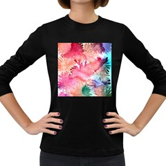No Women s Long Sleeve Dark T Shirts by AdisaArtDesign